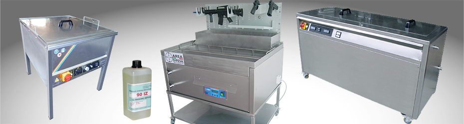 ultrasound washing machines for weapons